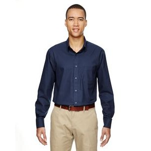 NORTH END Men's Paramount Wrinkle-Resistant Cotton Blend Twill Checkered Shirt