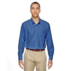 NORTH END Men's Align Wrinkle-Resistant Cotton Blend Dobby Vertical Striped Shirt