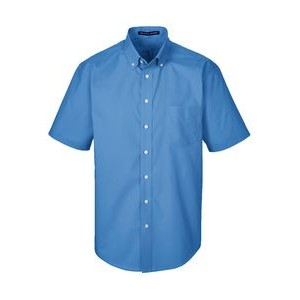 DEVON AND JONES Men's Crown Woven Collection? Solid Broadcloth Short-Sleeve Shirt