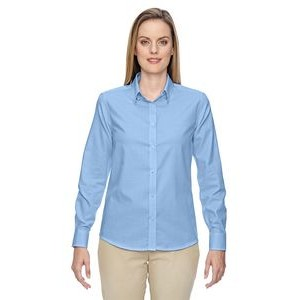 NORTH END Ladies' Paramount Wrinkle-Resistant Cotton Blend Twill Checkered Shirt