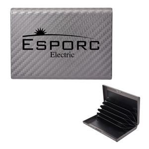 RFID Carbon Fiber Pattern Aluminum Card Case