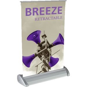 Breeze Tabletop Banner Stand with Vinyl Graphic