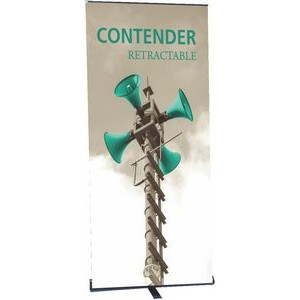 Contender Mega Silver Retractable Banner Stand