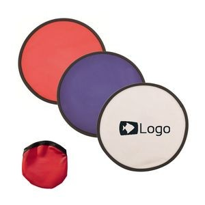 Foldable/ Collapsible Flying Disc With Pouch - 10""