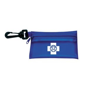 "On the Go First Aid Kit #2 w/ Translucent Vinyl Zipper Pouch (4 7/8"" x 3 1/8"")"