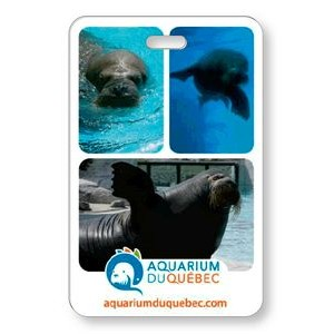 "Lenticular Luggage Tag .040 (2.625"" x 4.06"") Custom Vertical Flip Front Imprint"