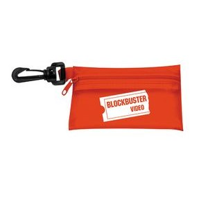 "Gotta Run First Aid Kit #2 W/ Translucent Vinyl Zipper Pouch (4 7/8""x3 1/8"")"