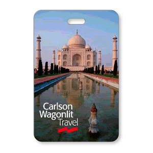 "Lenticular Luggage Tag .040 (2.125"" x 3.375"") Custom Vertical 3D Front Imprint"