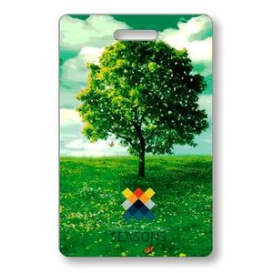 "Lenticular Luggage Tag .040 (2.125"" x 3.375"") Custom Vertical Flip Front Imprint"