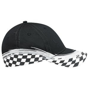 Full Fit Polycotton Cap w/Grand Prix Flare Accent