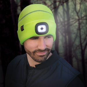 Reflective Cuff Toque with LED Light