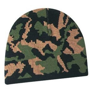 Acrylic Camouflage Board Knit Cap