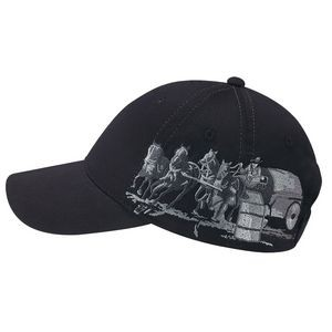 6 Panel Polycotton Western Style Cap - Racing Chuck Wagon