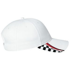 Contour Polycotton Cap w/Grand Prix Wave Accent