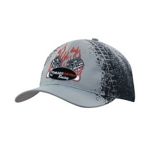 Breathable Poly Twill Cap w/Tire Print
