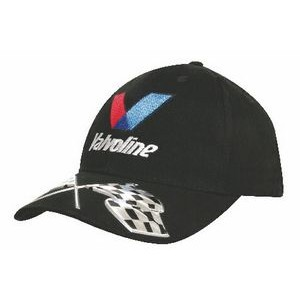 Brushed Heavy Cotton Cap w/Liquid Metal Flags