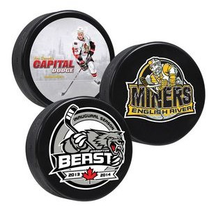 Canadian-made Hockey Pucks - 4 Color Process Digitally Printed - SINGLE SIDE PRINTING
