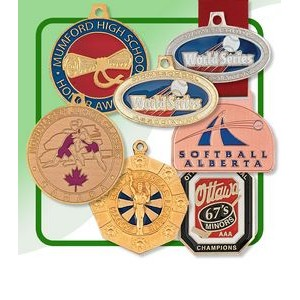 "Custom Bright Finish Spin Cast Medal (2½"")"