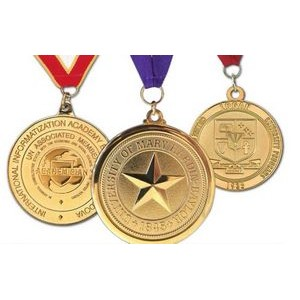 "Custom Brass Die Struck Medal (1½"")"