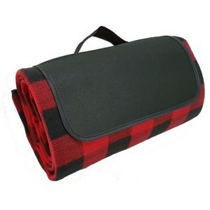 Classic Buffalo Check Picnic Blanket - Red/Black