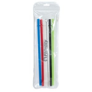 "Ozone 9"" Reusable Straws With Brush"