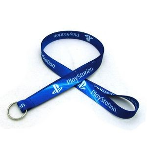 "5/8"" Digitally Sublimated Lanyard w/ Keyring"