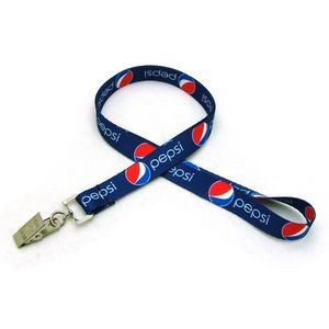 "1/2"" Digitally Sublimated Lanyard w/ Bulldog Clip"