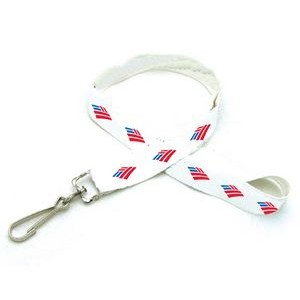 "3/8"" Digitally Sublimated Recycled Lanyard w/ Sew on Breakaway"