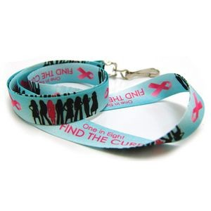 Breast Cancer Awareness Digitally Sublimated Lanyard