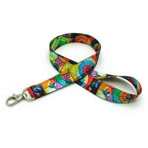 "7/8"" Digitally Sublimated Lanyard w/ Deluxe Swivel Hook"
