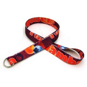 "3/4"" Digitally Sublimated Lanyard w/ Keyring"