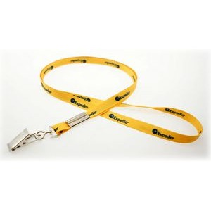 "3/8"" Digitally Sublimated Lanyard w/ Bulldog Clip"