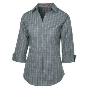 Ladies' Coal Harbour® Tattersall Check Woven Shirt