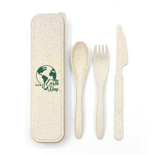 Wheat Straw Utensil Set