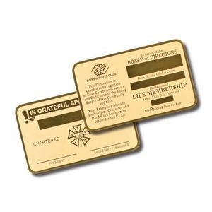 "Wallet Card - Brass 2-1/8""x3-3/8"""