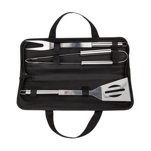 The Sous Chef 3pc S/Steel BBQ Set - Black