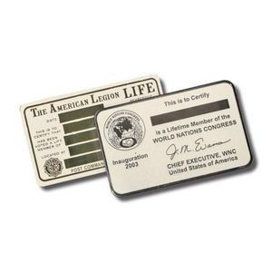 "Wallet Card - Nickel Silver 2-1/8""x3-3/8"""