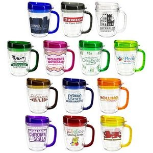 12 Oz. Lakeshore Tritan™ Mug w/Translucent Handle + Lid