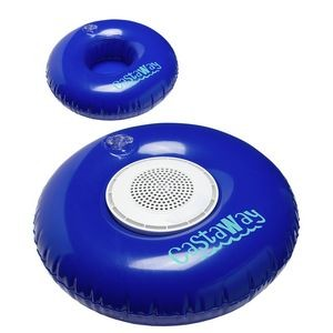Castaway Inflatable Swim Ring with Waterproof Wireless Speaker