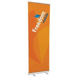 "39"" w x 120"" h Retractable Banner & Stand"