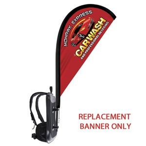 Backback Replacement Tear Drop Double Sided Flag Only