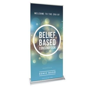 "39"" w x 82"" h Retractable Banner Stand - Quick Change"