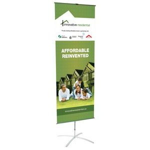 "24"" x 66"" Cross Based Banner Stand"