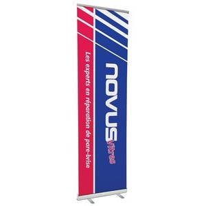 "33.5"" w x 120"" h Retractable Banner & Stand"