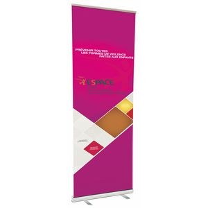 "47"" w x 120"" h Retractable Banner & Stand"