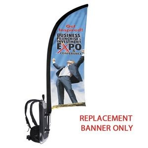 Backback Replacement Shark Fin Double Sided Flag Only