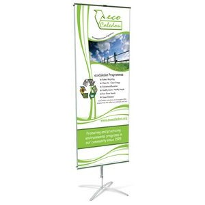 "24"" x 66"" Cross Based Banner Stand - Two Sided"