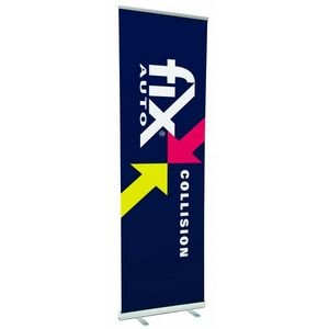 "36"" w x 120"" h Retractable Banner & Stand"