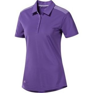Adidas® Women's Ultimate365 Heather Polo (Active Purple)