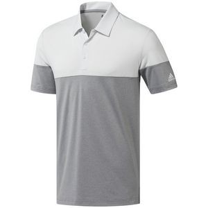 Adidas® Ultimate365 Heather Blocked Polo (Gray Three Heather/Crystal White)